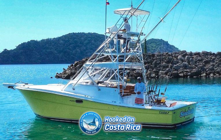 Best Jaco fishing charter boat in Herradura near Los Sueños Marina